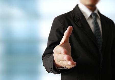 Handdruk helpen voor het bedrijfsleven, business concept Stockfoto