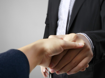 open your heart: Handshake helping for business, business concept