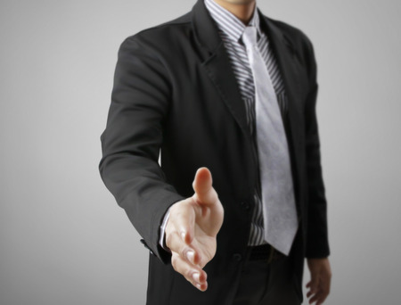 Handshake helping for business, business concept
