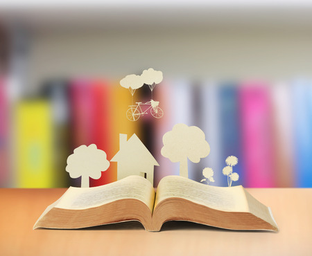 book background: The book of fantasy stories
