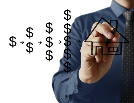 thumbnail: Businessman drawing a house Stock Photo