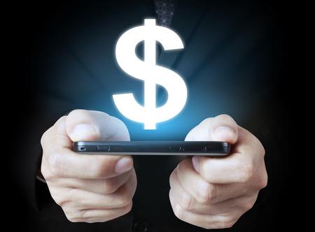 smart: hand holding smart phone