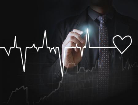 dessin coeur: c?ur dessin et le tableau du rythme cardiaque