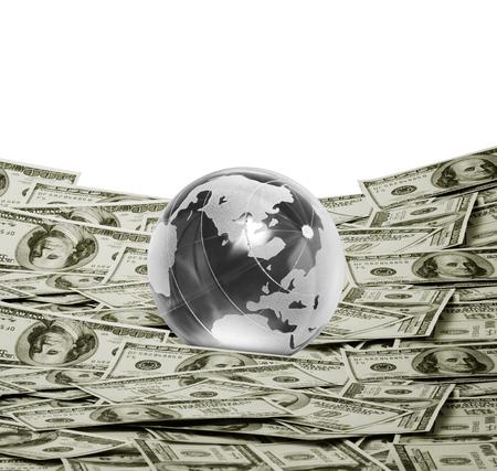 greenbacks: money american hundred dollar bills