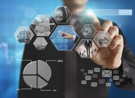 computer screens: Reaching images streaming, digital photo album