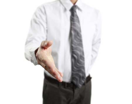 2 persons only: Business handshake with business people