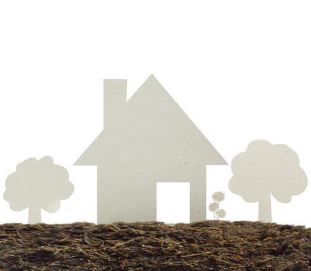 dwelling: Model the house Dwelling environment Stock Photo
