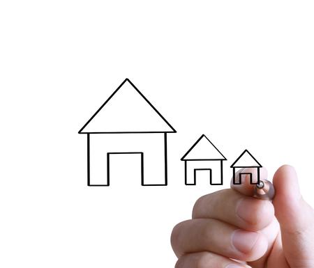 Hand drawing a house Standard-Bild - 109224361