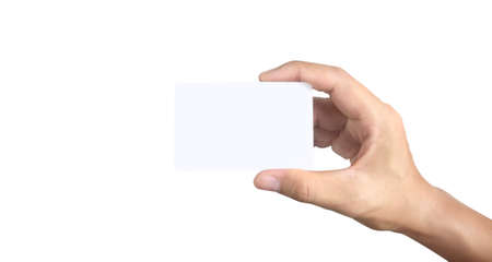 Hand holding a virtual card with your