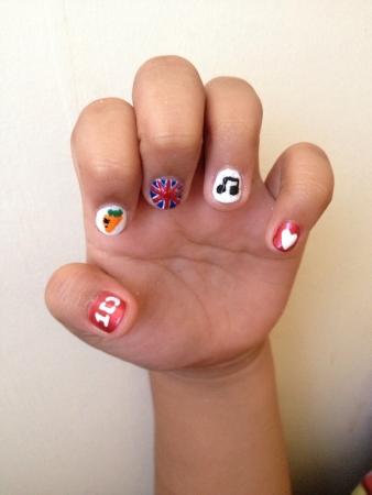 art: nail art Stock Photo