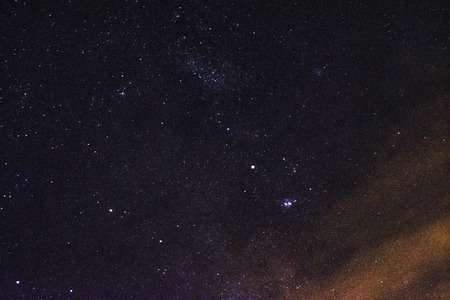 starry sky in the night, Fantastic - View from Reggio Calabria to Sicily Etna Volcano