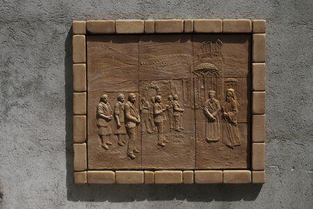 Old mailbox on brick wall Staiti - Fortunato Violi Sculpture Imagens