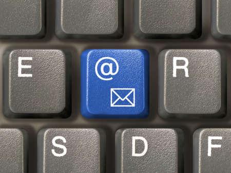Keyboard (closeup) with E-mail key (blue) Stock Photo - 769534