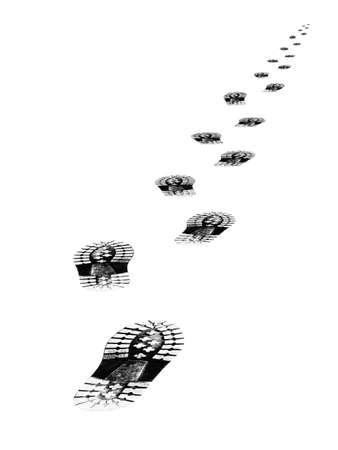 Tracks of shoes, isolated on white background Stock Photo - 918885