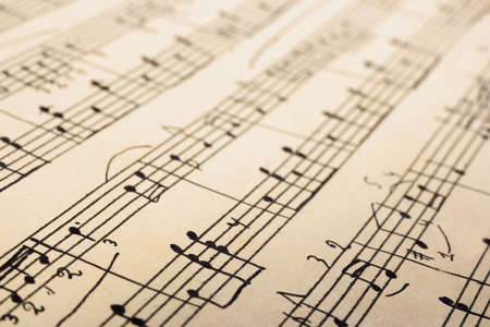 Retro sheet music, abstract art background Stock Photo - 2181595