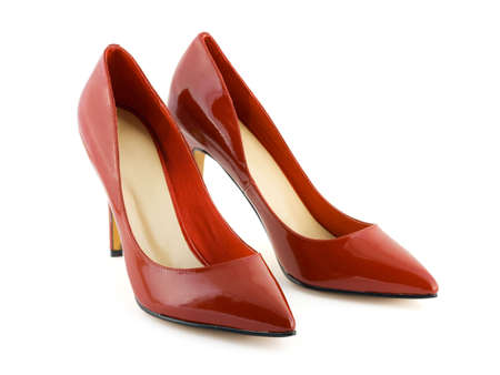 Red women shoes isolated on white background Stock Photo - 3068479