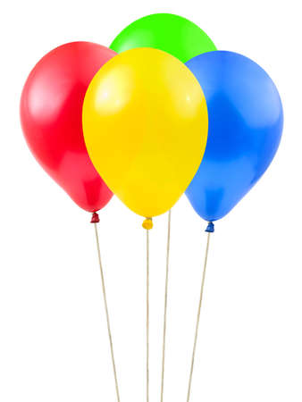 Multicolored balloons isolated on white background