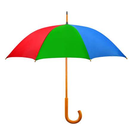 Opened umbrella isolated on white background Stock Photo - 4148777
