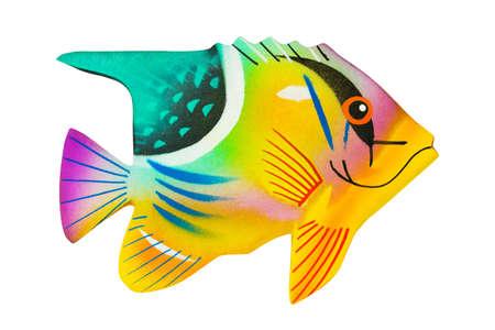 Toy exotic fish isolated on white background photo