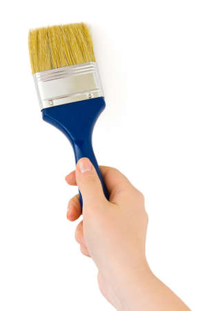 Hand with paintbrush isolated on white background Stock Photo - 4307588