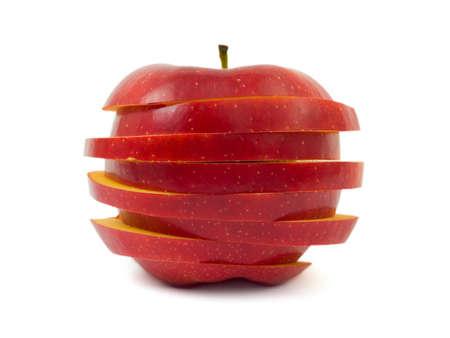 Sliced apple isolated on white background Stock Photo - 4326607