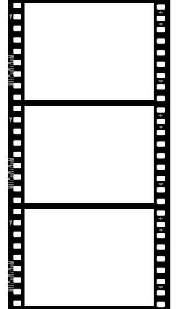photo shooting: Frames of photographic film ( seamless ) isolated on white background Stock Photo