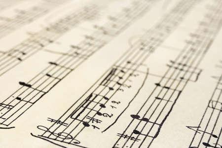Retro handwritten music sheet - abstract art background Stock Photo - 4487317