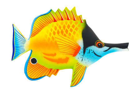 exotic pet: Toy exotic fish isolated on white background