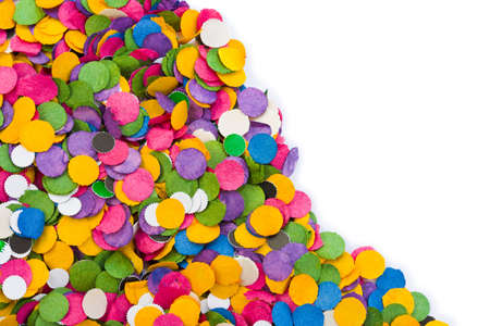 adoration: Colorful confetti texture - abstract holiday background Stock Photo