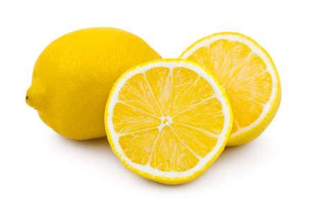 Lemon fruit isolated on white background photo