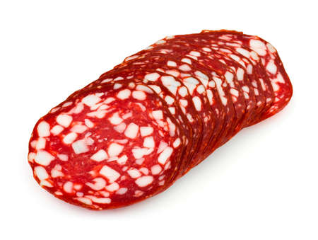 Sliced sausage isolated on white background Stock Photo - 4696946