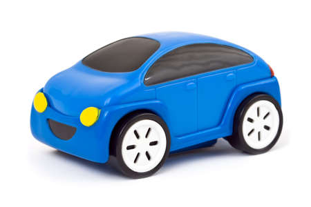 Toy car isolated on white background photo