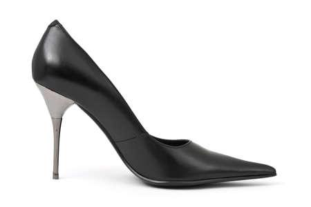 Black woman shoe isolated on white background Stock Photo - 4746661