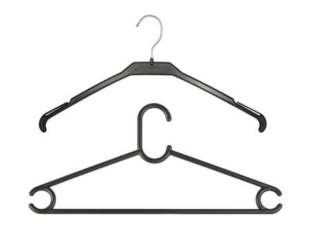 Two hangers isolated on white background