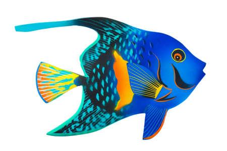 exotic fish: Juguete de peces ex�ticos aislados sobre fondo blanco