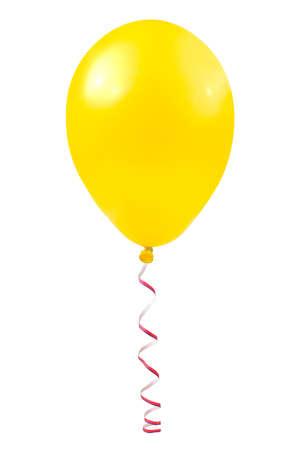 air bladder: Balloon e streamer isolato su sfondo bianco Archivio Fotografico