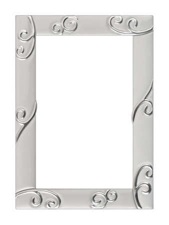 Metal frame isolated on white background photo