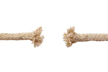 Breaking rope isolated on white background Stock Photo - 4919836