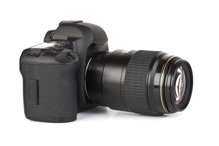 Photo camera isolated on white background photo