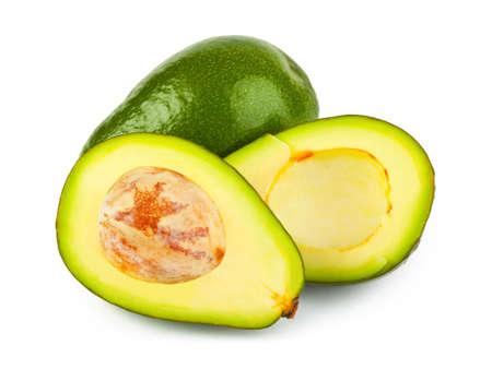 Avocado isolated on white background photo