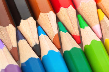 Macro of multicolored pencils - abstract art background Stock Photo - 5009505