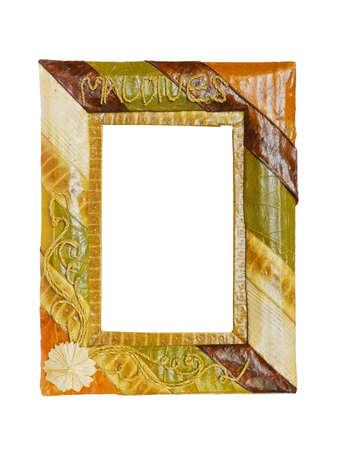 Exotic frame isolated on white background photo