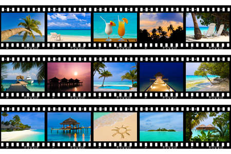 Frames of film - nature and travel (my photos), isolated on white background Stock Photo - 5030939