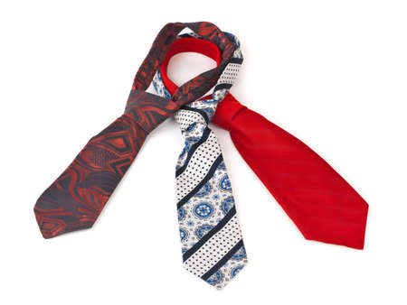 Three necktie isolated on white background photo