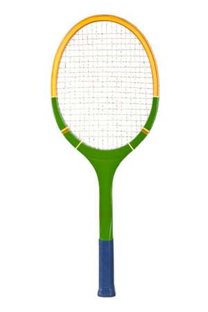 raqueta tenis: Raqueta de tenis aisladas sobre fondo blanco Foto de archivo