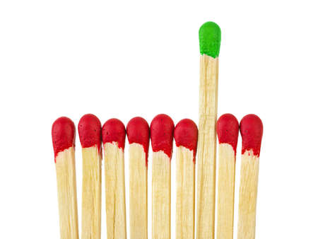 Matches - leadership concept, isolated on white background
