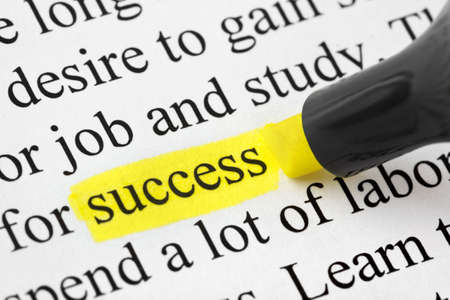 Highlighter and word success - concept business background Stock Photo - 5269790