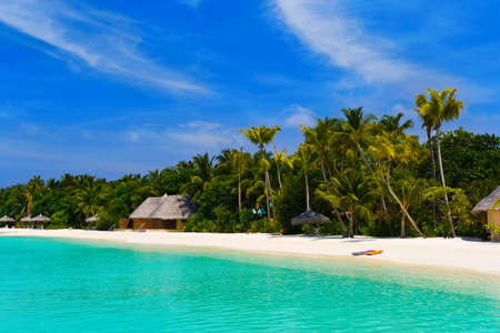 Beach at a tropical island - travel background Stock Photo - 5348018
