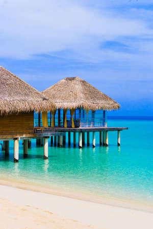 Spa salon on beach of tropical island - travel background photo