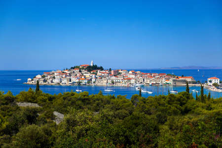 Town Primosten in Croatia - abstact travel background photo